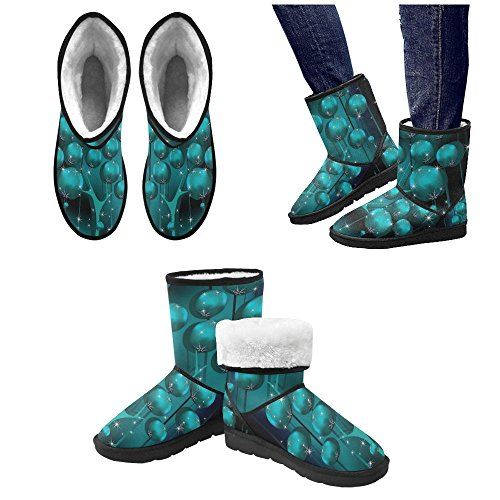 Tree Boots InterestPrint Snow Boots Winter Designed Custom Unique Christmas Women's qPtSwzP