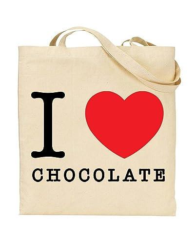 37f5b95e4e1e I Love Chocolate - Heart - Food - TOTE - Bag - Handbag - Shopping - Novelty  Gift by TeeDemon®  Amazon.co.uk  Shoes   Bags