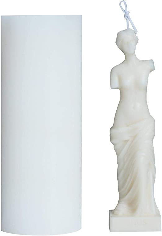 Silicone Mould for Resin,3D Venus De Milo Greek Roman Mythology Goddess Aphrodite Silicone Mould Body Candle Decorating Craft Mold DIY Homemade Soap Making Mould