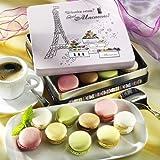 Macarons in Prägedose Paris