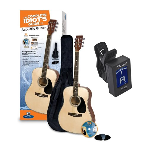 Complete Idiot's Guide® Acoustic Guitar Pack + Fender Clip-On Chromatic ()