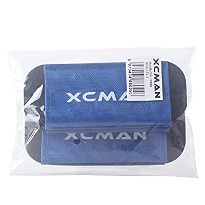 XCMAN Canvas Nordic XC Cross Country Ski Strap Ties With Fleece Padding Ski Base Wrap Straps Protector Carrier