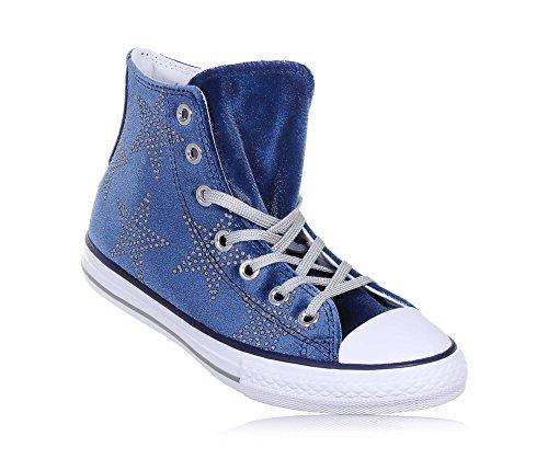 Navy Grigio 658882c All Scarpe Lacci Mid Gray Bambina Star Converse Blu d5IqZA5w