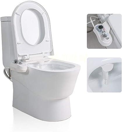 Bid/és,Bid/é Sanitario Acoplable Al Inodoro Boquilla Autolimpiante,Accesorio WC Bidet Mec/ánico No El/éctrico De Agua Dulce con Boquilla Doble