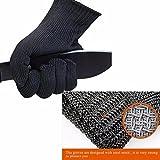 Juafu guanti in maglia in acciaio inox da macellaio antitaglio fai da te - Guanti da cucina ...