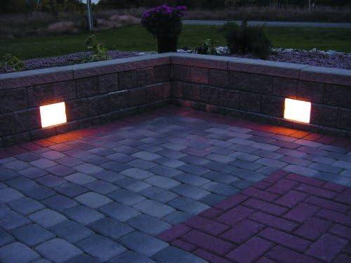 Amazon Com Kerr Lighting Retaining Wall Light 6 X 8 4 Pack Kit For Segmental Retaining Walls Landscape Path Lights Garden Outdoor