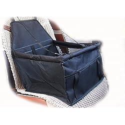 Ponkie Collapsible Car Pet Sleeping Bag Dog Seats Portable Pet Dog Car Booster Seat (Black)