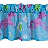Girls Turquoise Blue & Pink PONY HORSE Window VALANCE 16