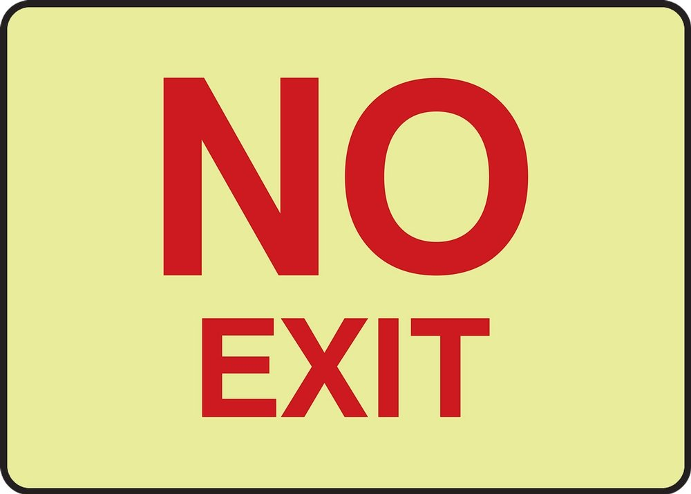 7 x 10 Inches AccuformNo Exit Safety Sign MADC522XP Accu-Shield