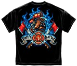 fire Stickers | Firefighter Fire Dog First in Last o Shirt ADD107-FF2063-4XL For Sale