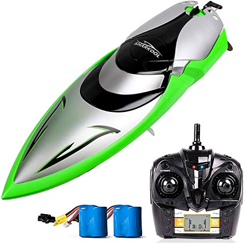 Remote Control Boat – SHARKOOL H106 Rc Self Righting Racing Boats for Boys & Girls, 2.4Ghz High Speed Remote Control…