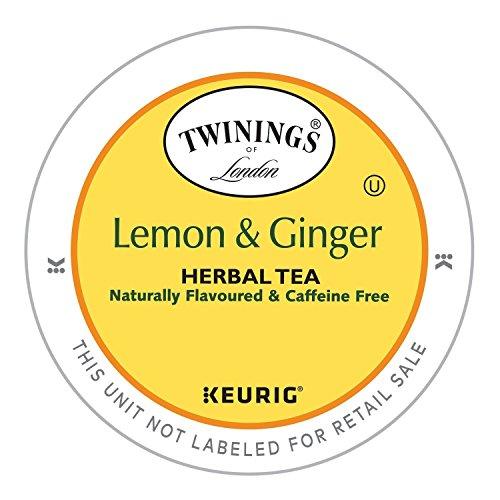 Twinings Lemon and Ginger Herbal Tea, Keurig K-Cups, 48 Count (Lemon Twinings Tea)