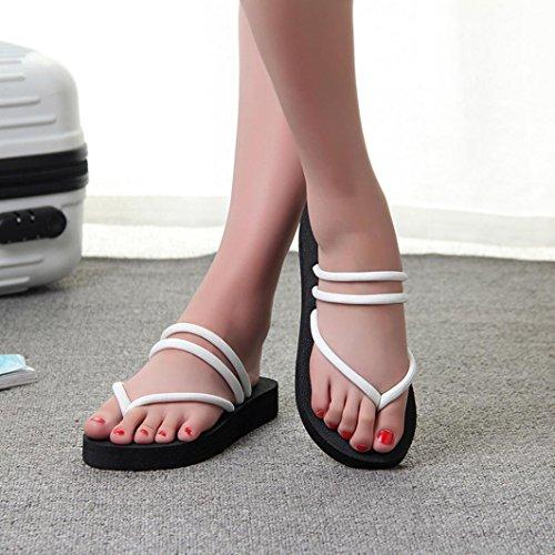 Donna Infradito Estive Bassi Bianca Estivi Mare Strass Scarpe Pantofole Eleganti Sandali Elegant Con Beautyjourney Ciabatte FC5dwFq