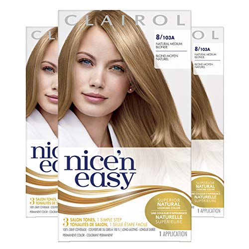 Clairol Nice'N Easy  Original  8 Medium Blonde (Pack of 3)
