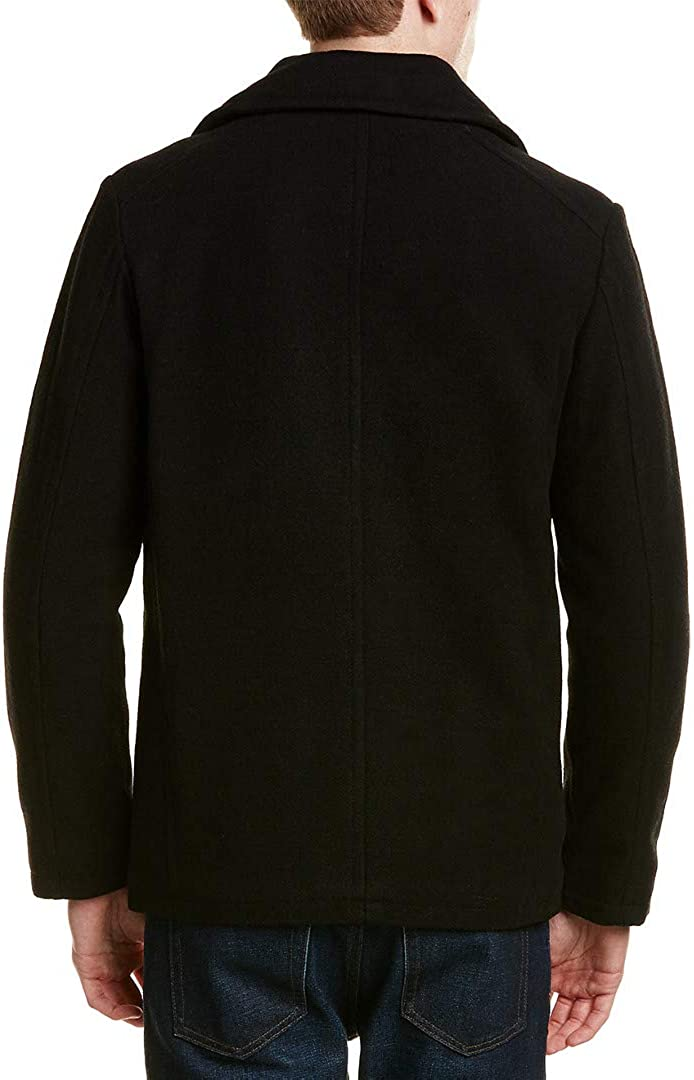 Kenneth Cole New York Mens Down Car Coat with Sherpa Collar