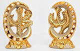 Islamic Muslim Gold Color Stand Ceramic With Rhinestone / Favor Allah & Mohammad / Home Decora6tive # 1371