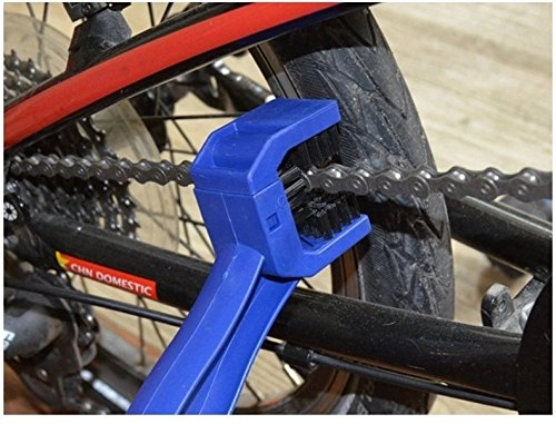 WZYuan Motorcycle Bicycle Chain Crankset Brush Cleaner Multi purpose Maintenance Cleaning Tool (Blue)