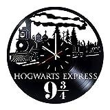 Harry Potter Hogwarts Express Vinyl Clock Record Wall Clock Handmade Fan Art Decor Unique Decorative Vinyl Clock12 (30 cm) The Best Original Gift