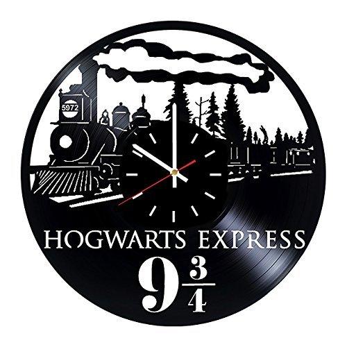 Harry Potter Hogwarts Express Vinyl Clock Record Wall Clock Handmade Fan Art Decor Unique Decorative Vinyl Clock12 (30 cm) The Best Original Gift by choma