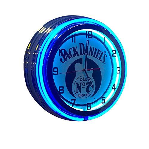 Jack Daniel's Guitar Sign - 19 inch Double Neon Clock