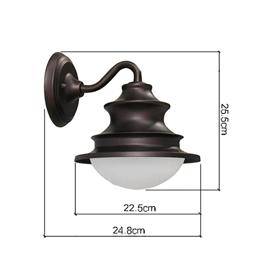 Eeayyygch Retro-Beleuchtung führte Schmiedeeisen Wandleuchte Balkon Wasserdichte Wandleuchte (Farbe     Weiß Light) 4d2213