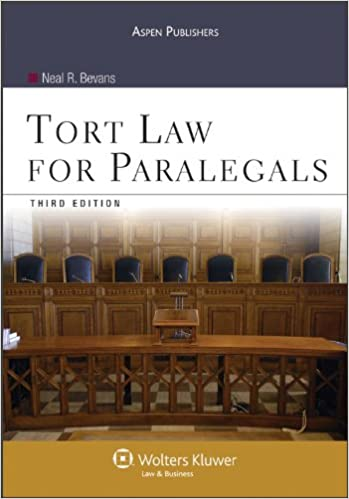 Download Tort Law for Paralegals 3rd Edition PDF, azw (Kindle), ePub, doc, mobi