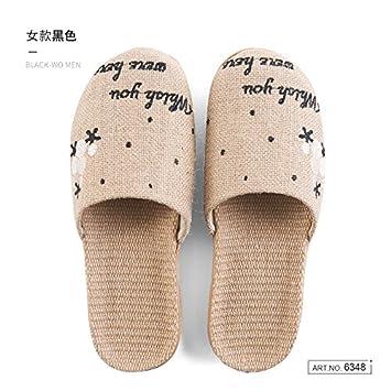CWJDTXD Zapatillas de verano Zapatillas de lino viejas femeninas de verano interior Baotou algodón y ropa