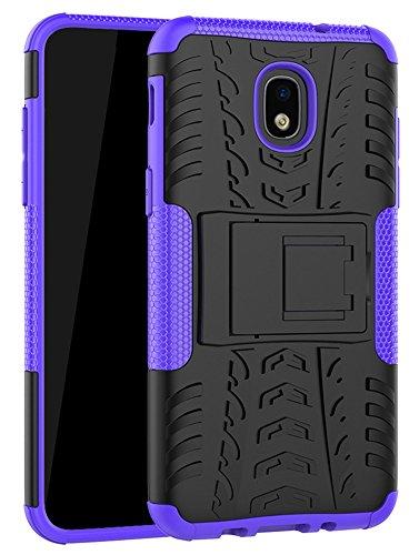 Galaxy J7 Refine Case,J7 V 2018,Galaxy J7 Top,J7 Crown,J7 Aero,J7 Aura,J7 Eon,J7 Star Case, Yiakeng Shockproof Protective with Kickstand Phone Cases for Samsung J737V,J737T (Purple)