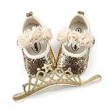 BENHERO Baby Infant Girls Soft Sole Floral Princess