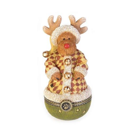 Enesco Boyd's Bears Collectible Milford Moosel Kringle-Klaus Trinket Box