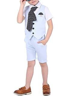Amazon.com: Boys pantalones cortos de verano Negro Trajes ...