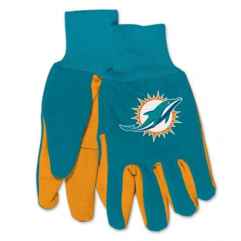NFL Miami Dolphins Kids Two Tone Gloves ()