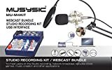 MUSYSIC Studio Recording Kit, Webcast Bundle, 4 Channel Mixer with USB Interface MU-M4KIT