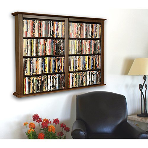 Venture Horizon Wall Mount Media Cabinet Double Walnut