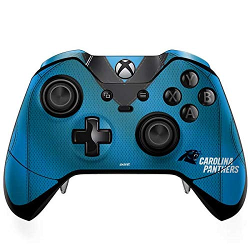 (Skinit Carolina Panthers Team Jersey Xbox One Elite Controller Skin - Officially Licensed NFL Gaming Decal - Ultra Thin, Lightweight Vinyl Decal Protection)