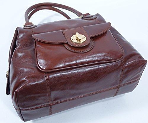 Polish Bag Logo Turnlock Calf DKNY Satchel Handag HwS5qxBW