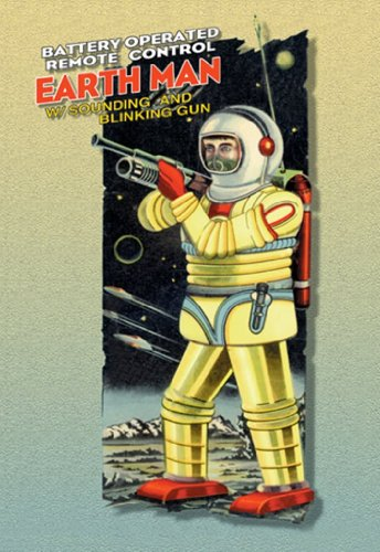 Earth Man - Battery Operated Remote Control w/Sounding and Blinking Gun - II, 12x18 Poster, Heavy Stock Semi-Gloss Paper Print