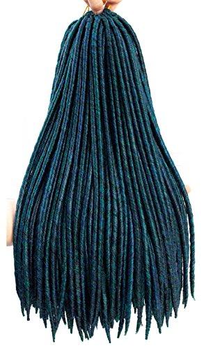 Braid Silver Earrings - 7 Packs Goddess Faux Locs Crochet Hair Extensions Syntheic Crochet Braids Hair Dreadlocks Ombre Braiding Hair 16Strands 85g/Pack(18