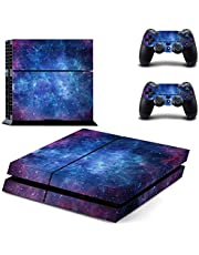 UUShop Skin Decal Cover for Sony Playstation 4 PS4 Console Sticker (Purple Nebula)