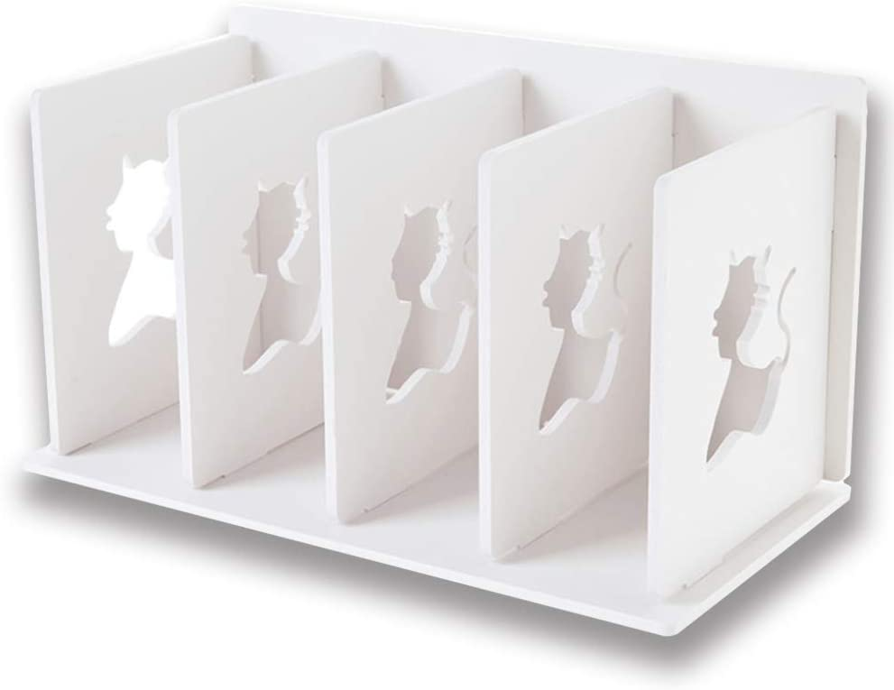 Small Bookshelf for Desktop Storage – Office Desktop Bookcase Student Dormroom Desktop Bookshelf White Ladder Organizers for Women Kids Men Decor Desktop