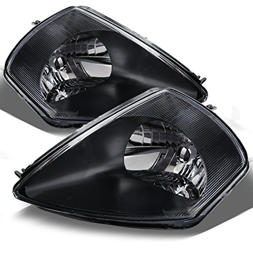 For Mitsubishi Eclipse JDM Black Replacement Headlights Driver/Passenger Head Lamps Pair ()