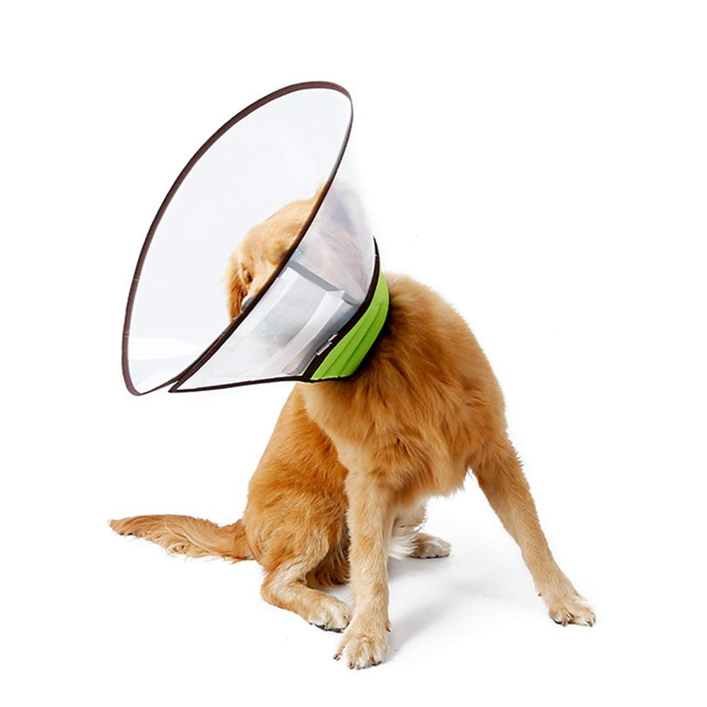 WXQKD Pet Cone, Adjustable Lightweight Elizabethan Collar for Puppies, Small Dogs and Cats,Green,XXL by WXQKD