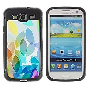 Suave TPU GEL Carcasa Funda Silicona Blando Estuche Caso de protección (para) Samsung Galaxy S3 III I9300 / CECELL Phone case / / Green Blue Abstract Shapes Blue /