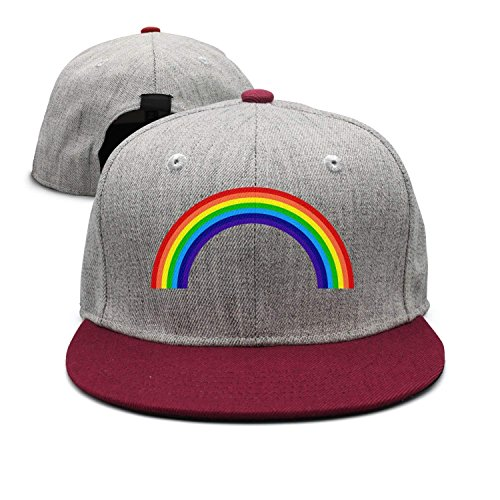 jinhua19 Gorras béisbol Adut Rainbow Snapback Baseball Cap Outdr Sports Mesh Hat Sun Hats Black