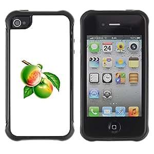 Suave TPU GEL Carcasa Funda Silicona Blando Estuche Caso de protección (para) Apple Iphone 4 / 4S / CECELL Phone case / / Fruit Macro Green Fruits /