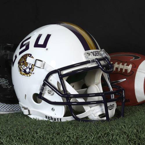 NCAA Schutt LSU Tigers Full Size Authentic Football Helmet - White by Schutt