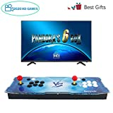Spmywin GroGou Arcade Video Game Console 2020 HD Retro Games Pandoras Box 6 Arcade Machine Newest System 1280x720 Full HD Advanced CPU Support PS3 2 Player Arcade Joystick