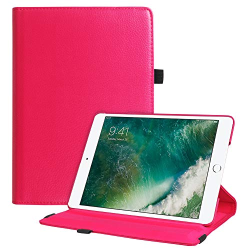 Fintie iPad 9.7 2018 2017 / iPad Air 2 / iPad Air Case - Multiple Angles Stand Smart Protective Cover with Auto Sleep Wake for iPad 9.7 inch (6th Gen, 5th Gen) / iPad Air 2 / iPad Air, Magenta