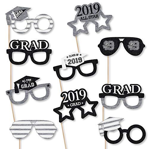 Big Dot of Happiness All Star Grad Glasses - 2019 Paper Card Stock Graduation Party Photo Booth Props Kit - 10 Count (Best Stocks Under 50 Dollars 2019)