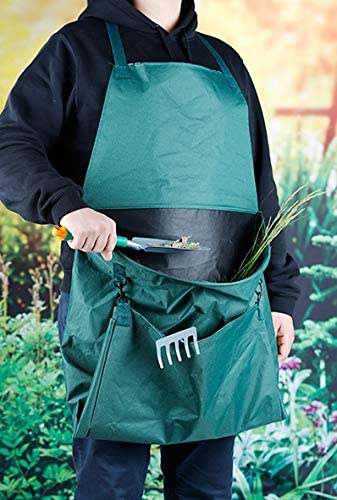 Gartenabfall Sammelschürze Gartenschürze Garten-Schürze wasserundurchlässig grün